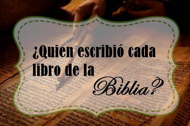 quien es el autor de la biblia -1